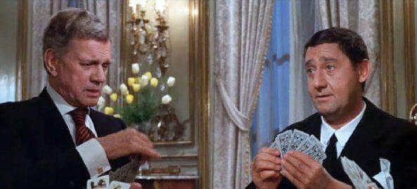 Alberto Sordi nel film Lo scopone scientifico
