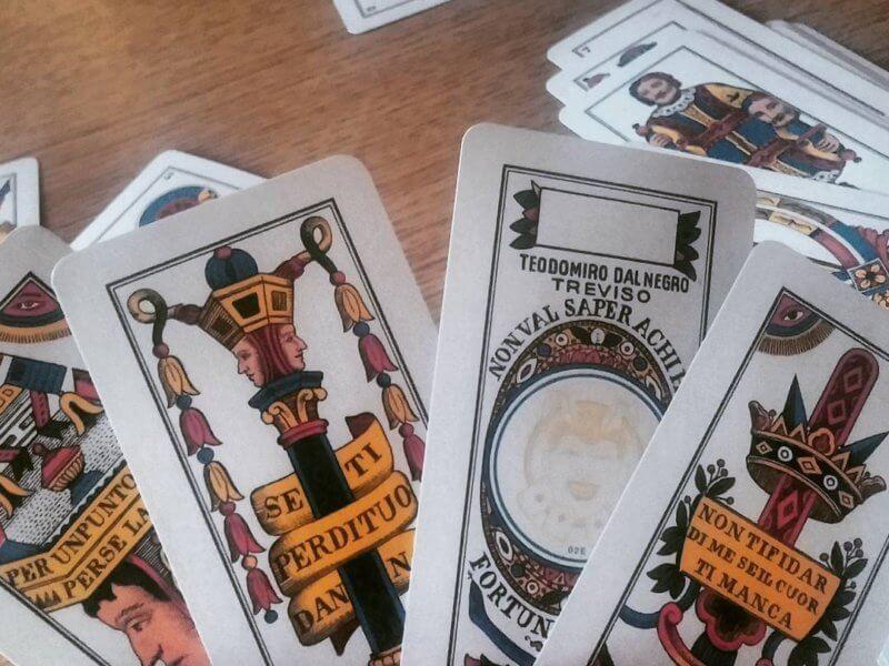 carte trevigiane a ventaglio